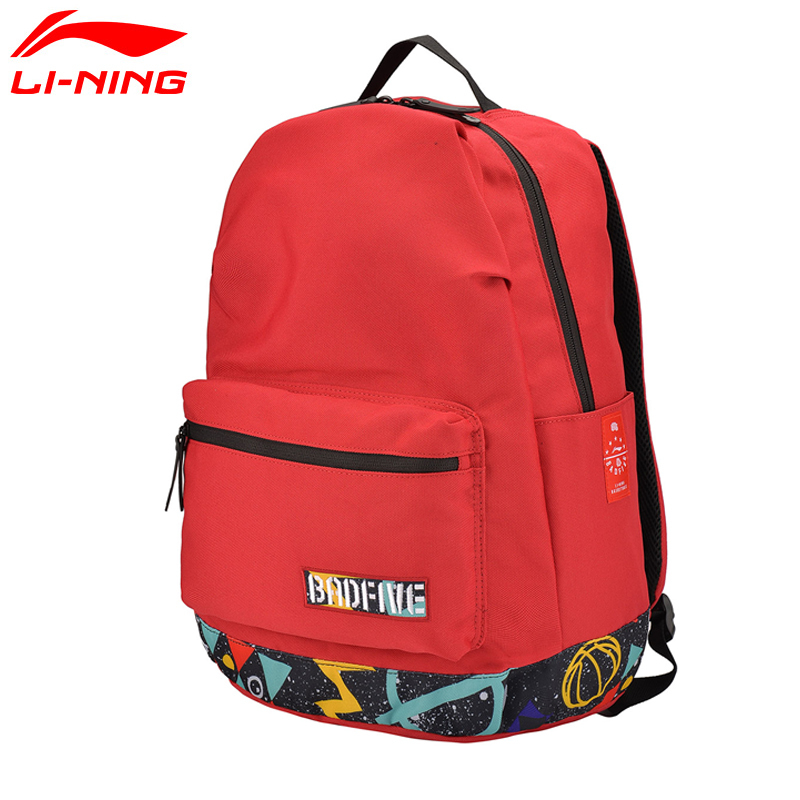Li-Ning BAD FIVE Basketball Backpack Energetic Training Polyester Bags LiNing Men And Women Leisure Sports Backpack ABSM053 Q080
