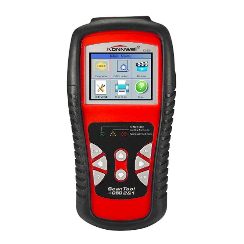 KONNWEI KW830 OBD2/EOBD voiture Diagnostic Scanner automatique lecteur de Code défaut automobile outil de Diagnostic détecteur de voiture outil automobile