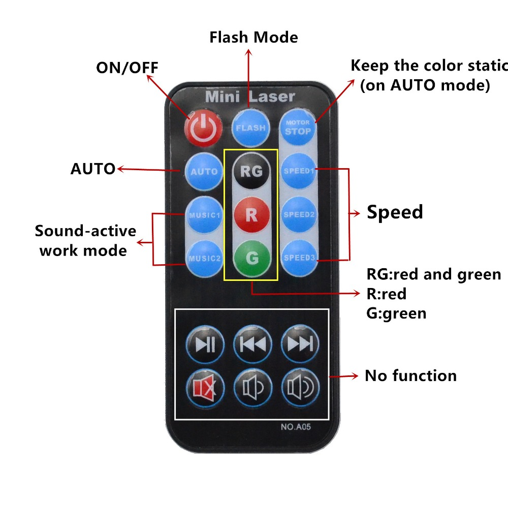 AUCD Mini Portable IR À Distance RG Galaxy Météor Douche Laser - Éclairage commercial - Photo 2