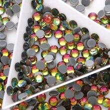 Glitter SS6-SS30 HotFix Rhinstones Glass Crystal DMC Multicolor Glue Back Flatback Iron-on Hot fix Rhinestone For Clothes hot