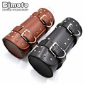 BJMOTO Motorcycle Saddle Bags Black Brown Leather Motorbike Side Tool Tail Bag PU Luggage Borsello Moto for Harley Universal