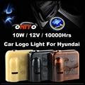 12 В Автомобиль логотип Свет Эмблема Лазерная Дверь Лампы Авто Призрак Тень лампы Accent IX30 IX20 IX35 I40 Tiburon Тусон Elantra Atos Санта Fe