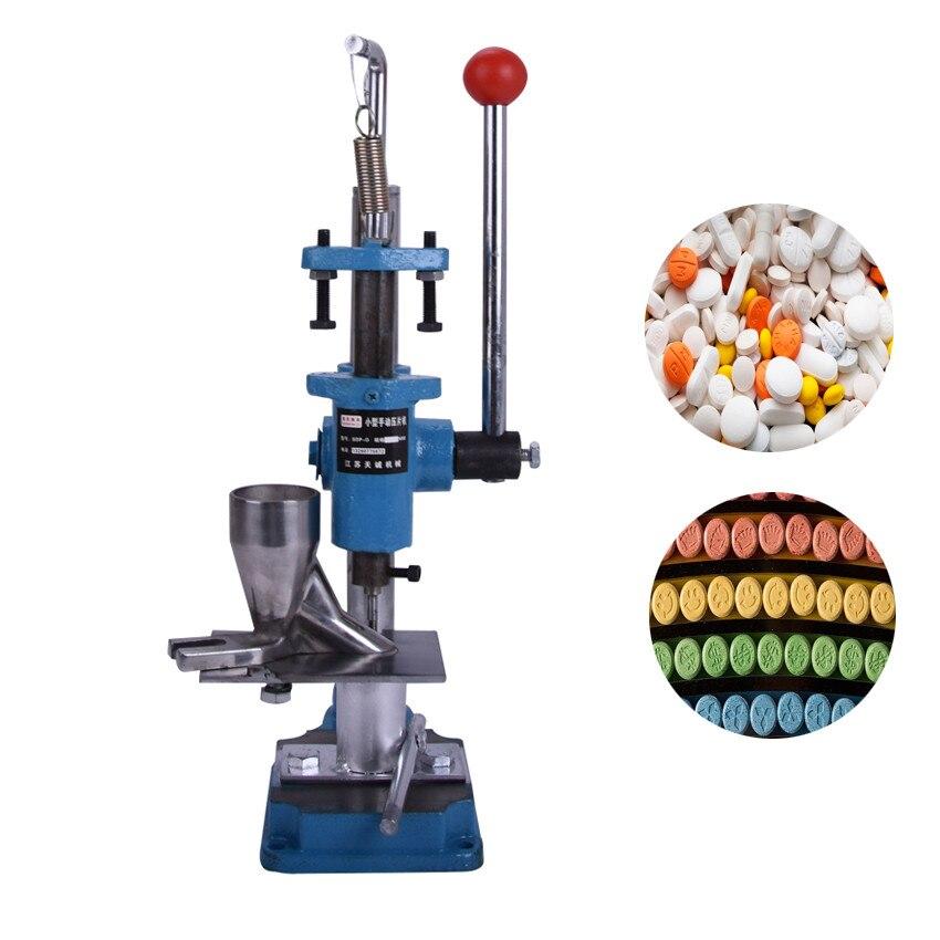 SDP-0 Manuel presse à comprimés machine push type, médecine de laboratoire, poudres à base de plantes comprimés machine pilule machine à timbrer + poinçon die