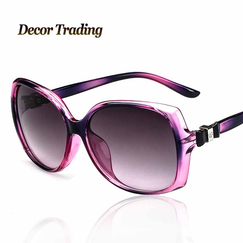 new 2015 vogue fashion big frame bow women sunglasses vintage luxury uv400 sun glasses brand designer