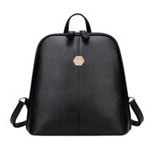 New Fashion Women PU Leather Backpack Mini Backpack Rucksack Girls School Bag for Teenager Girls Mochila Shoulder Bagpack Female