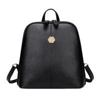 New Fashion Women PU Leather Backpack Mini Backpack Rucksack Girls School Bag For Teenager Girls Mochila