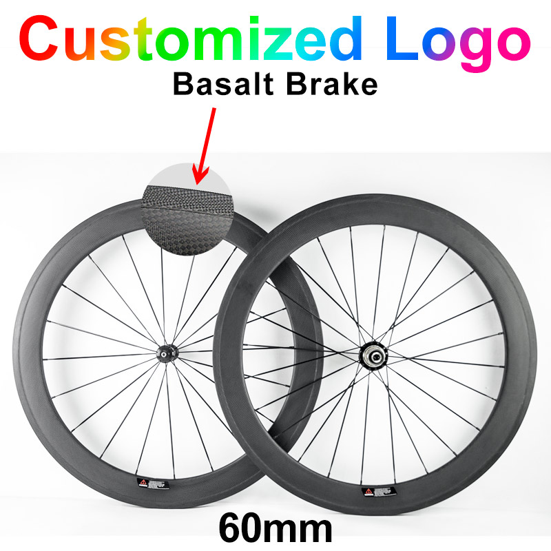 цена на 700C customized 60mm 23mm width 3k ud clincher tubular carbon fibre bike wheels Road bicycle cycling racing wheelset 50mm 60mm