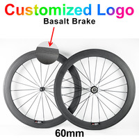 700C Customized 60mm 23mm Width 3k Ud Clincher Tubular Carbon Fibre Bike Wheels Road Bicycle Cycling