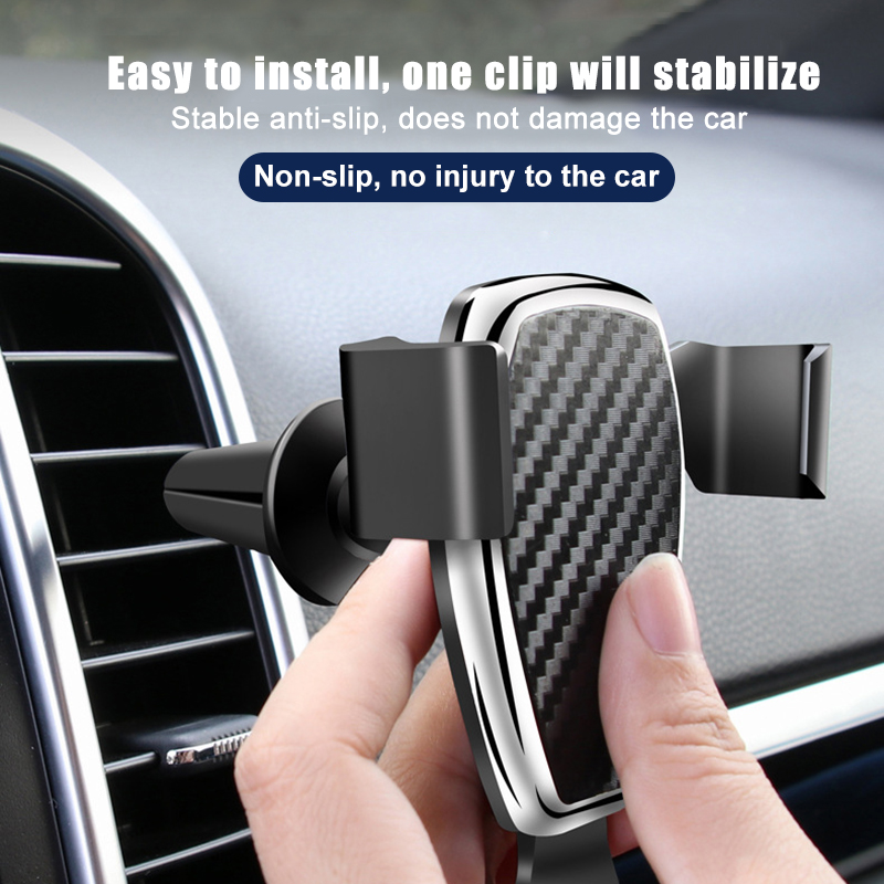 Universal Gravity Car Phone Holder Phone Air Vent Mount Stand No Magnetic Mobile Phone Bracket Smartphone Accessories charger in Phone Holders Stands from Cellphones Telecommunications