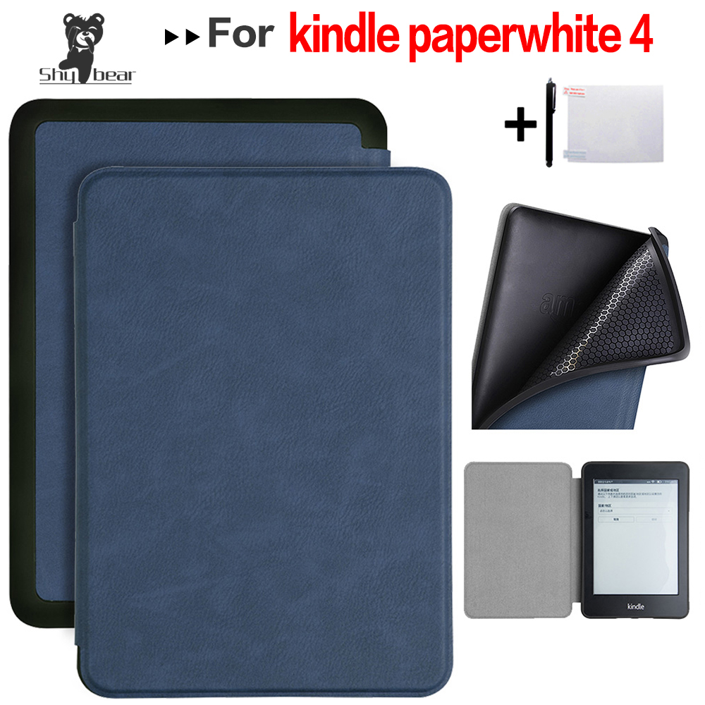 Smart Case For Amazon Kindle Paperwhite 4 E-reader For 2018 10th Paperwhite PQ94WIF E-book Case + Gifts