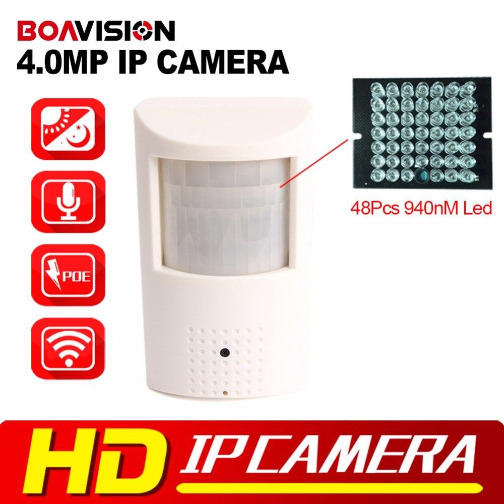 НОВЫЙ ПИР Стиль WIFI 4MP 940NM ИК Ip-камера С PoE СВЕТОДИОДОВ Ночного Видения P2P Просмотра HD 3-МЕГАПИКСЕЛЬНОЙ Камеры Безопасности WI-FI Onvif H.265/H.264