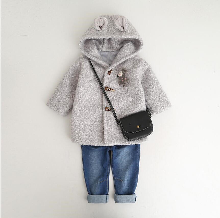 winter baby jacket for girls coat outerwear fashion Hooded boutiques kids clothes children s clothing worm