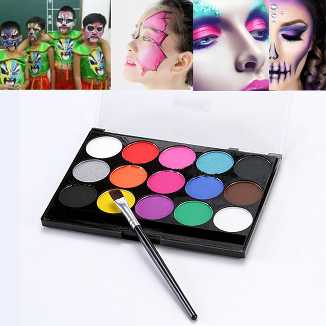 15colors face painting kit body makeup non toxic water paint oil