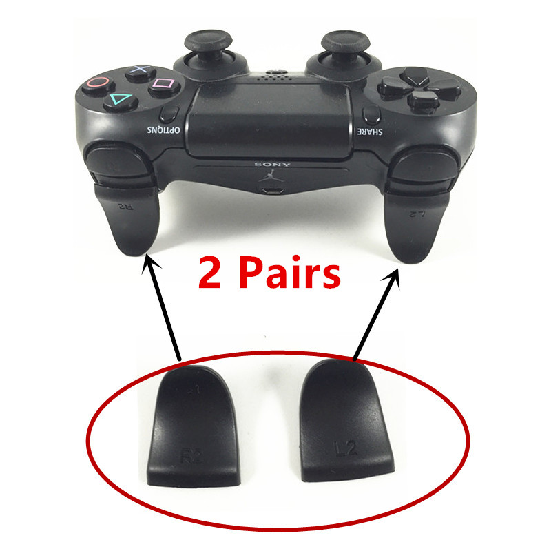 2 Pairs R2 L2 Trigger Extenders for Playstation PS4 Pro Slim Controller Dual Triggers Attachments for Dualshock 4 PS4 Controller