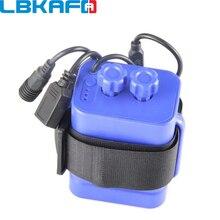 LBKAFA Comuns À Prova D' Água de 6*18650 Plástico Caixa de Armazenamento Caso Suporte Da Bateria para Moto LEVOU Luz Camadas de Arame de Chumbo Recarregável