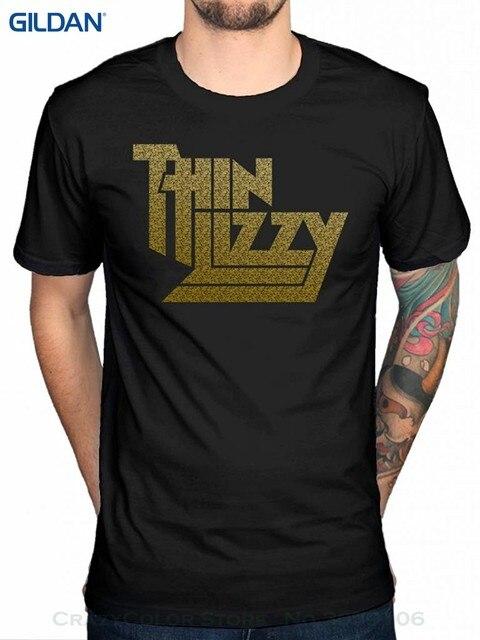 Black and Gold Thin Lizzy logo tshirt vkvwh