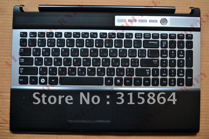 Russian NEW Russian laptop Keyboard for SAMSUNG RF510 RF511 Black with speaker and touchpad LOW PRICE ru russian for samsung sf411 sf410 laptop keyboard with c shell