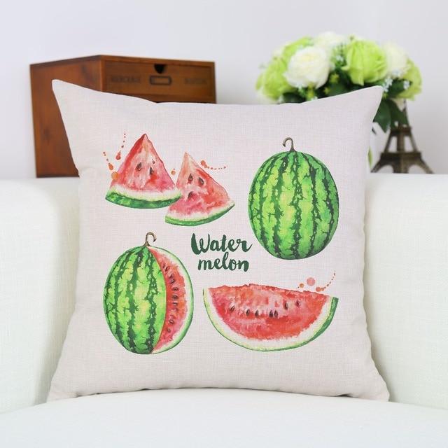 Beau Decorative Fresh Fruit Green Watermelon Pillow Cover For Home Bedding Linen  Cushion Cover Square Sofa Pillows