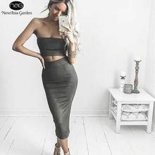 Good Quality Womens High Waist Suede Skirts Midi Length Winter Autumn Spring Back Slit Pencil Stretchy New 2017 Size S-L