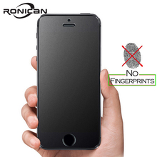 RONICAN frosted matte glass For iphone SE tempered glass 9h hardness Iphone 6 7 explosion proof protective glass For iphone 5s 4