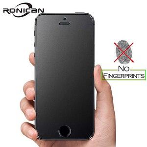 Image 1 - Ronican Frosted Matte Glas Voor Iphone Se Gehard Glas 9 H Hardheid Iphone 6 7 Explosieveilige Beschermende Glas voor Iphone 5s 4