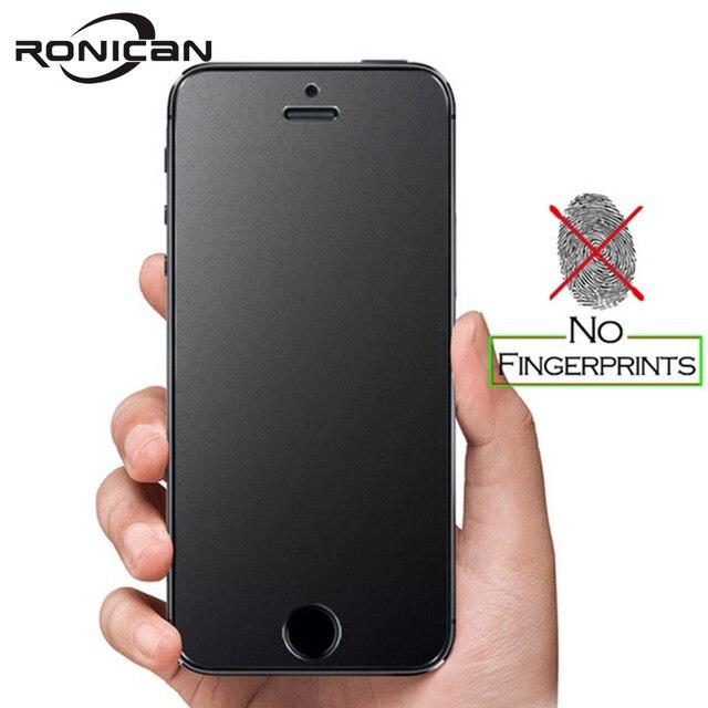 Ronican Frosted Matte Glas Voor Iphone Se Gehard Glas 9 H Hardheid Iphone 6 7 Explosieveilige Beschermende Glas voor Iphone 5s 4