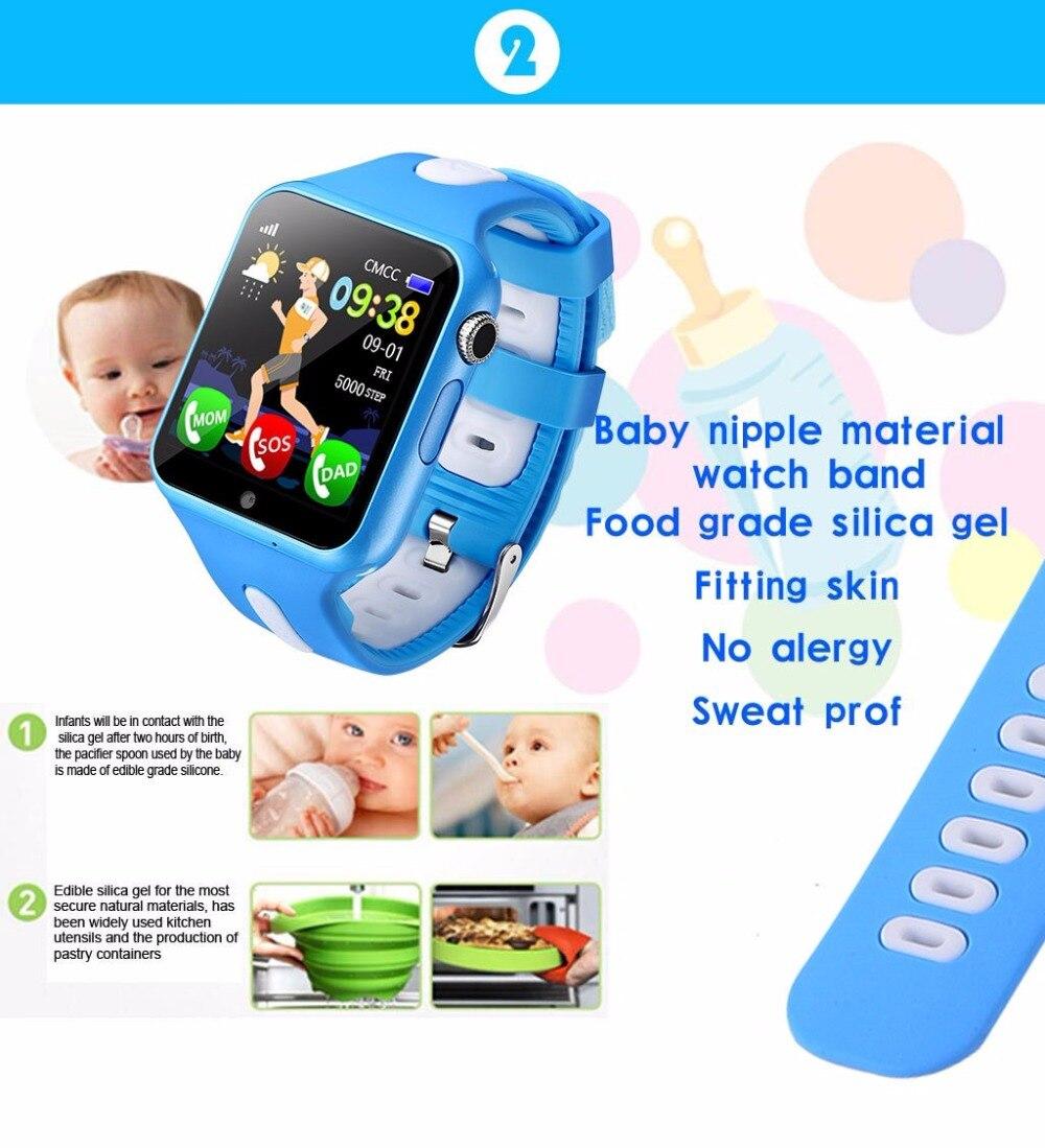 Enfants montre intelligente GPS enfants LBS Location Sport enfant Smartwatch Support étanche carte SIM caméra sécurité téléphone montres bébé - 2