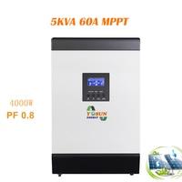 MPPT Solar Inverter 4000W 220v 60A Pure Sine Wave Inverter off Grid Solar System 60A Power Battery Charger Invertor
