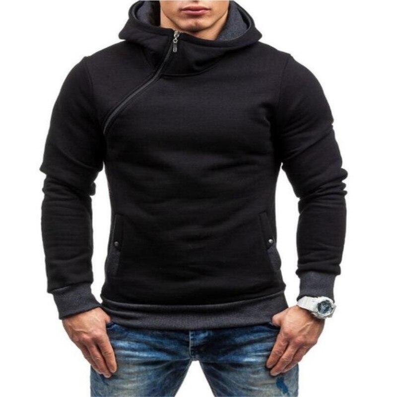US $15.3 15% OFF Fashion Hoodies Men Sweatshirt Warm 5 Color Male Zipper Hooded Jacket Casual Autumn Winter Tracksuit Hip Hop Style Men Hoodie in