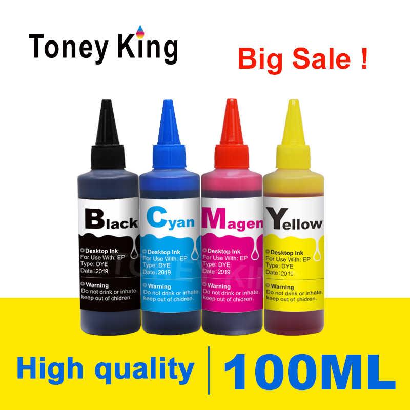 عدة حبر إعادة تعبئة صبغ طابعة Toney King 100 مللي لـ HP 655XL لـ HP655 Deskjet 3525 4615 4625 5525 6520 6525 6625 خرطوشة طابعات