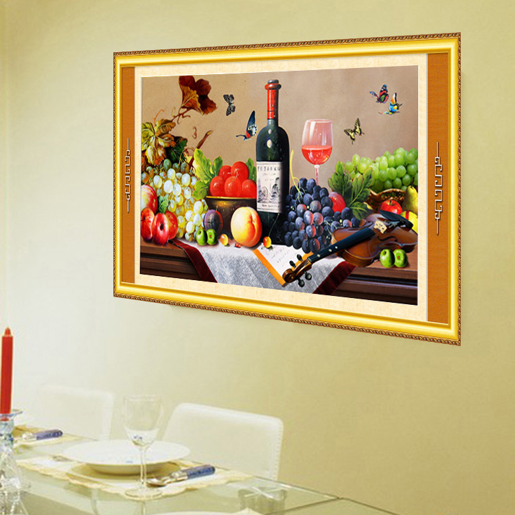 ⑧5d diamond paintings living room fruits embroidery wall paintings ...