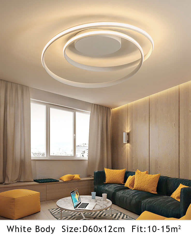 HTB17RRdQcfpK1RjSZFOq6y6nFXa8 Hot Sale Modern LED Ceiling Lights For Living Room Bedroom Dining Room Luminaires White&Black Ceiling Lamps Fixtures AC110V 220V