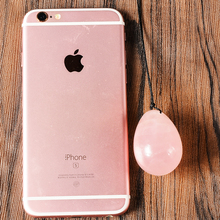 Recovery after Birth Drilled Natural Rose Quartz Yoni Egg for Kegel Exercise Massage & Relaxation Vaginal Exercise Ben Wa Ball
