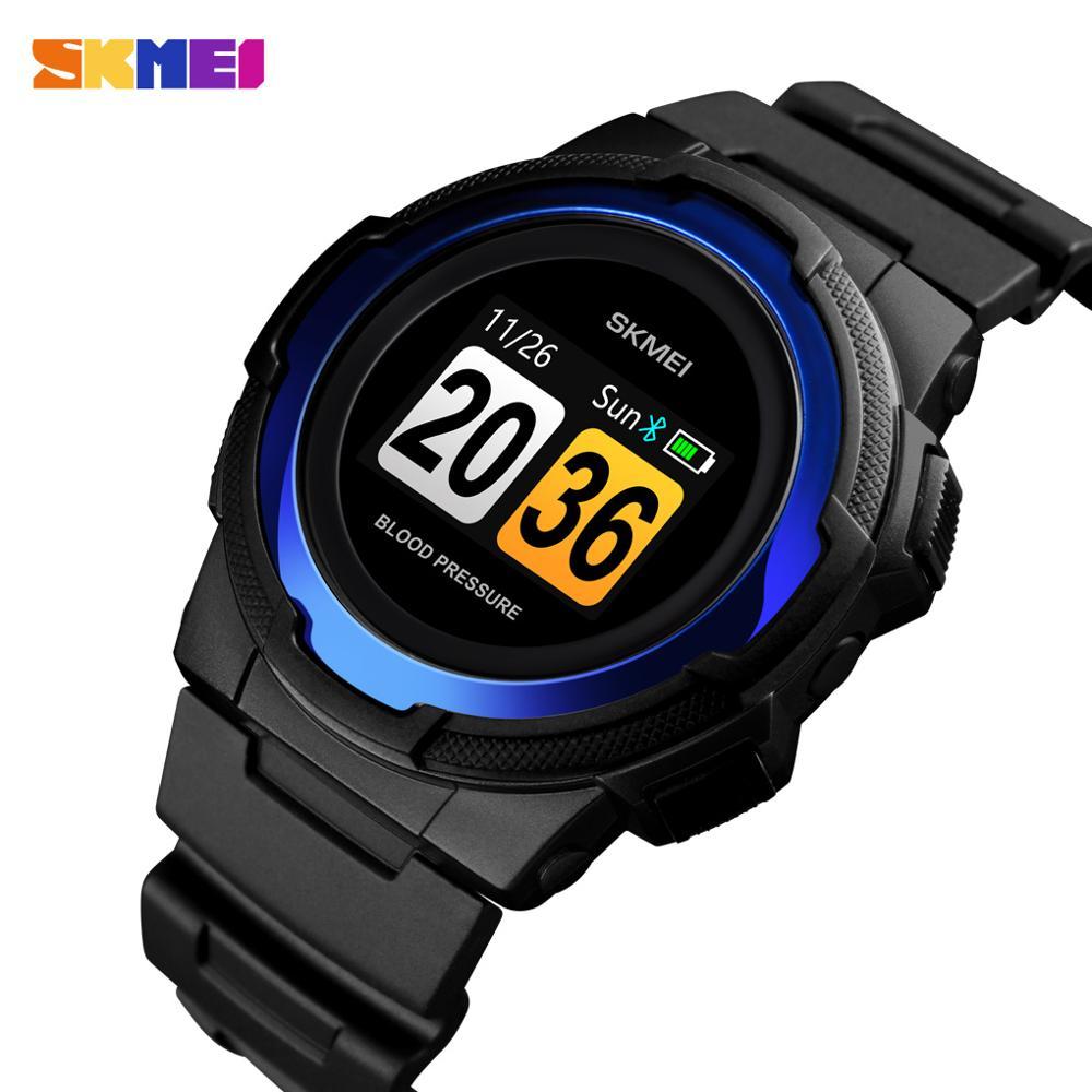 Reloj inteligente creativo SKMEI para hombre, relojes digitales multifunción, pantalla a Color, reloj Bluetooth a prueba de agua 3Bar, erkek saat 1438-in Relojes inteligentes from Productos electrónicos    1