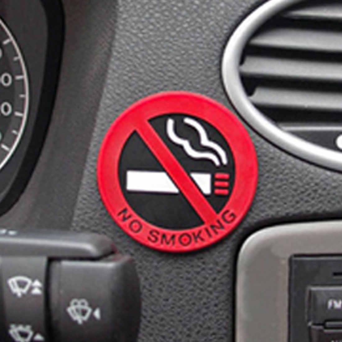 Dewtreetali colle autocollant avertissement non fumeur Logo voiture autocollants facile à coller pour bmw benz ford vw peugeot opel renault mazda golf