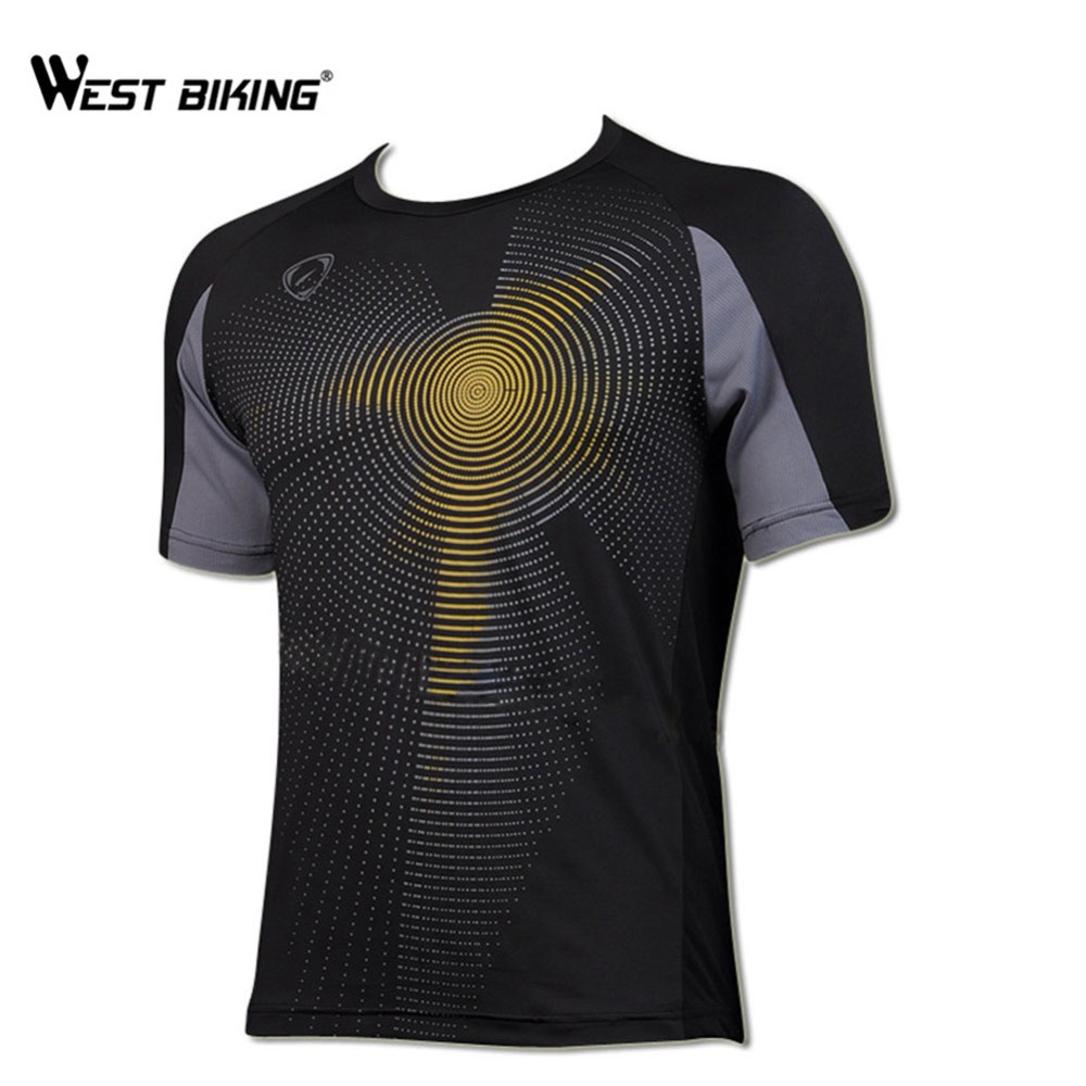 WEST BIKING 2017 Original T-Shirt Breathable Sports Cycling Jersey Comfortable Sportswear Road MTB Bike Cycling Clothing For Men