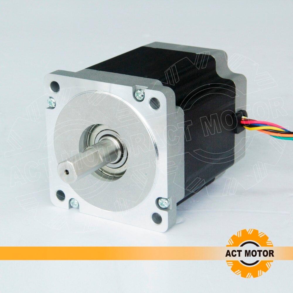 ACT 8-lead nema 34 stepper motor 2A,900oz NSK bearings with driver DM542 18-50V 24v 48v stepper motor driver dm542 full protection 1 0 4 2a dc24 50v nema 17 23 34 stepper driver