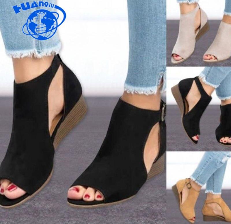 Boca Verano Zll290 Mujeres Zapatos De Toe Negro Mujer Hebillas Peces qUzSMVpG