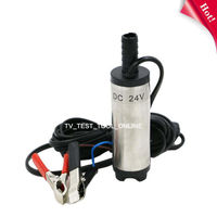 TKDMR 2V DC Diesel Fuel Water Oil Car Camping Fishing Submersible Transfer Pump Free Shipping