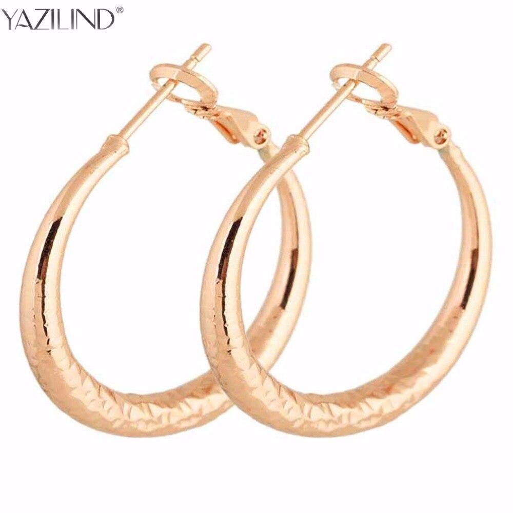 Big Round Earrings Basketball Wives Trendy Gold Color Fashion Jewelry Wholesale Diameter Large Hoop Earrings Women