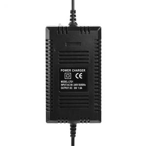 Image 5 - Standard ue 36V 1.8A skuter elektryczny ładowarka 3 Pin XLR żeńskie wtyczka żel realizacji kwas Smart Power szybkie ładowanie 12AH 14AH 20AH