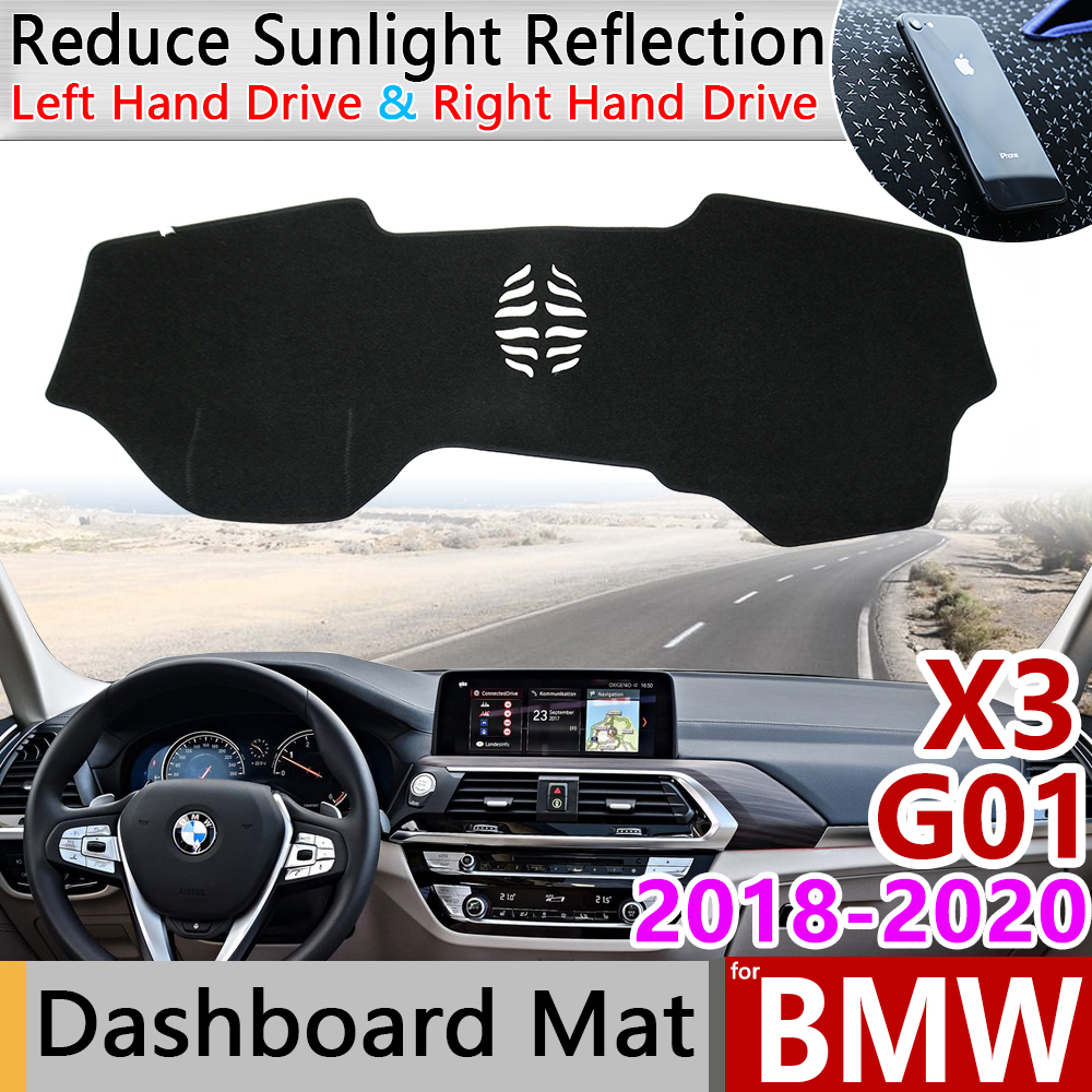 For BMW X3 G01 2018 2019 2020 Anti-Slip Anti-UV Mat Dashboard Cover Pad Sun Shade Dashmat Protect Carpet Accessories Car Cushion