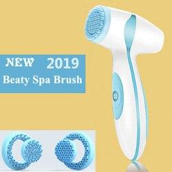 Dropshipping link para vip elétrica escova de limpeza facial sônico poros cleaner nu galvânica spa cuidados com a pele massageador face lift