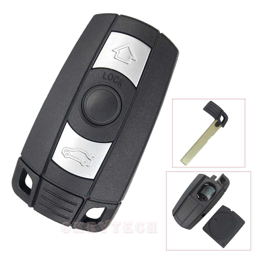 High Quality 3 Button Remote Key Shell Case For BMW 5-series 5/X5/X6 E60 E61 E70 E92 1 3 5 6 Series smart key case Key Shell shell series