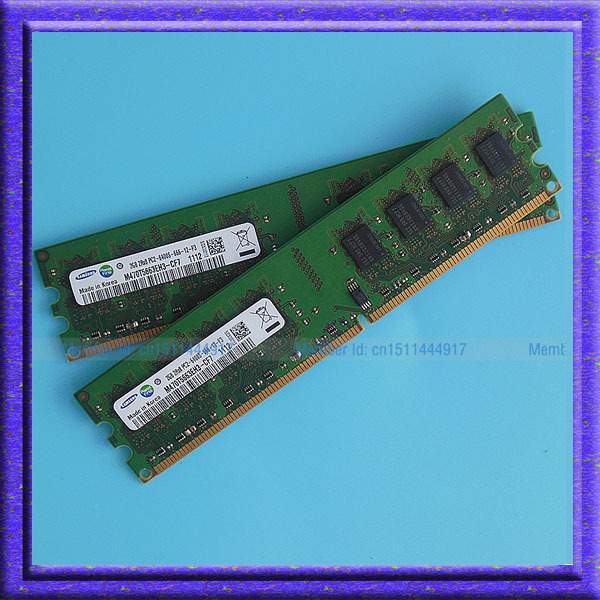 ФОТО 4G 2x2GB PC2-6400 DDR2 800 800Mhz 240pin DIMM Desktop Memory Low Density 4G RAM Upgrade Free Shipping