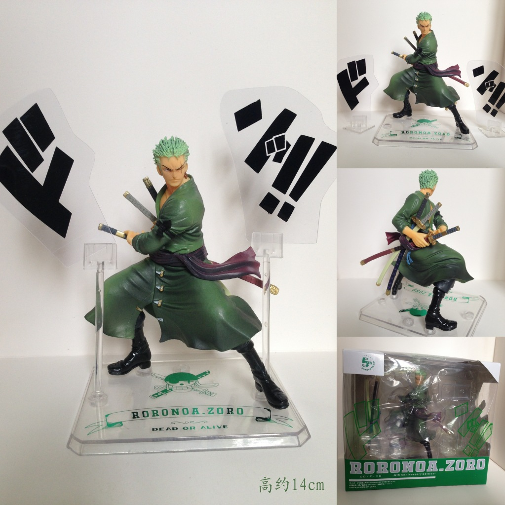 Anime One Piece Zoro 5th Anniversary PVC Action Figure Collectible Model Toy 14cm KT1765