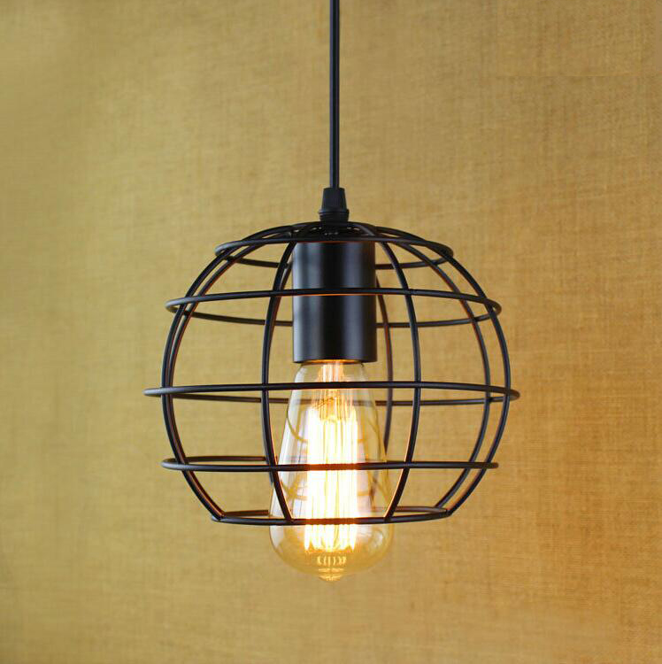 Retro Iron Pendant Lights Loft Vintage Lamp Restaurant Bedroom  Living Room E27 Birdcage Pendant Lamp Hanging Light Fixture retro country pendant lights loft vintage lamp restaurant bedroom dining room pendant lamps american style for living room