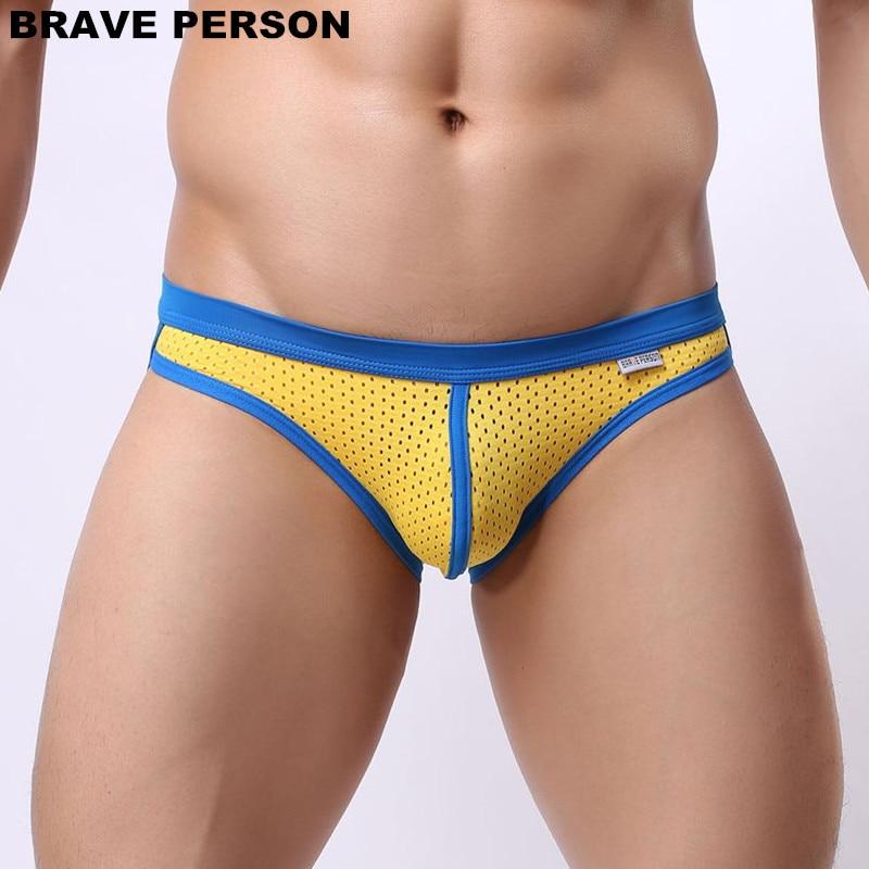 Bielizna męska figi wysokiej jakości marki bielizna figi szorty męskie bikini męskie seksowne majtki siatkowe 6 kolorów darmowa wysyłka
