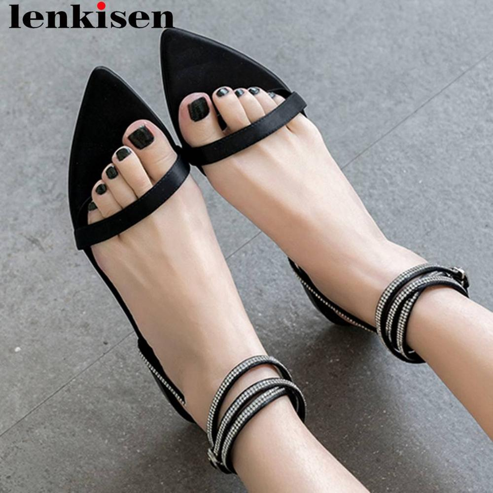 Lenkisen elegant pretty girls buckle strap crytals decoration peep pointed toe satin movie star summer clubwear ladies shoes L63Lenkisen elegant pretty girls buckle strap crytals decoration peep pointed toe satin movie star summer clubwear ladies shoes L63