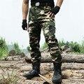 Outono roupas Novas Calças da carga Dos Homens Militar Tático do exército Calça verde joelheiras estilo Camuflagem do exército do camo Calças workwear